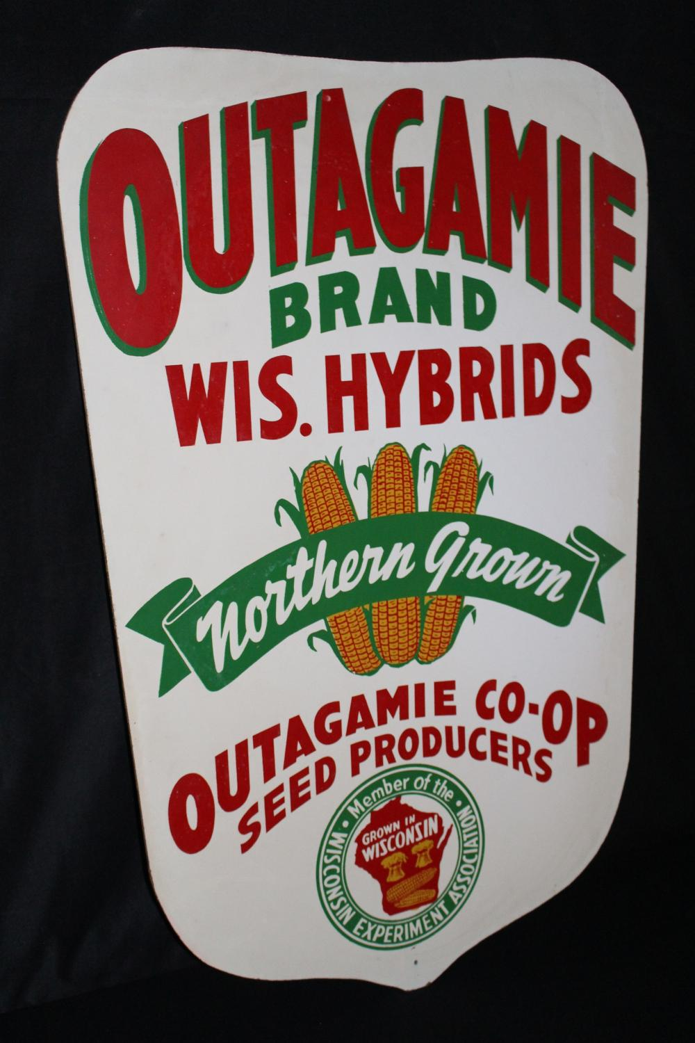 OUTAGAMIE WISCONSIN HYBRID SEED CORN FARM SIGN