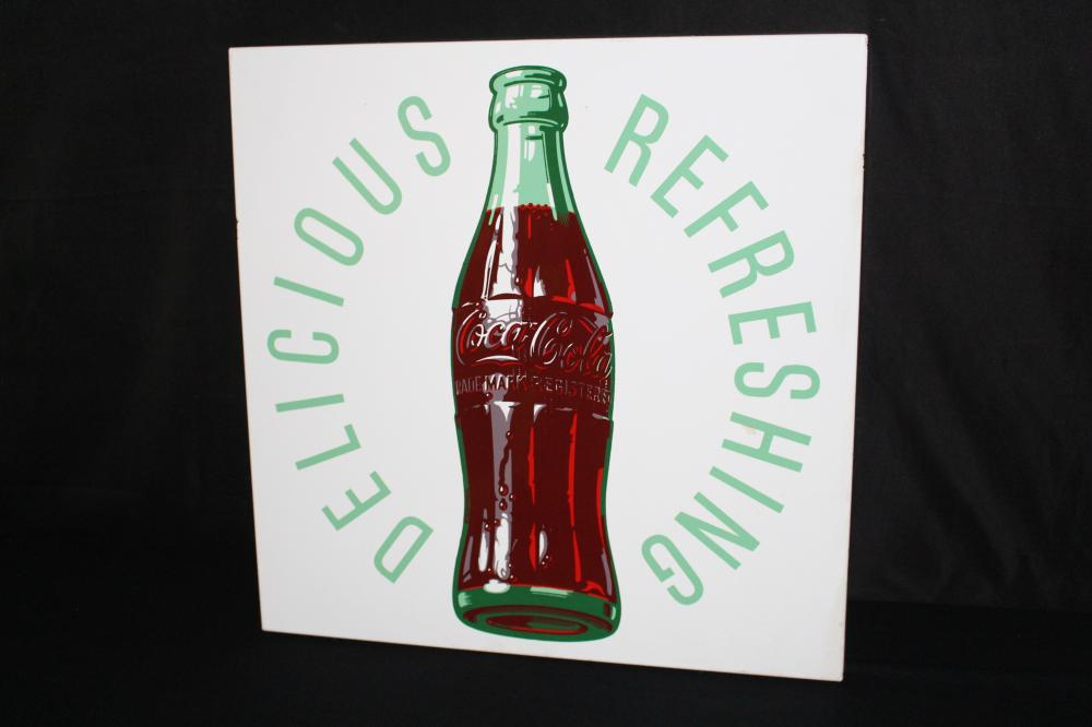 PORCELAIN DELICIOUS REFRESHING COCA COLA SIGN