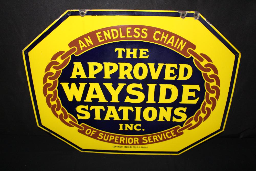 PORCELAIN APPORVED WAYSIDE STATION SIGN
