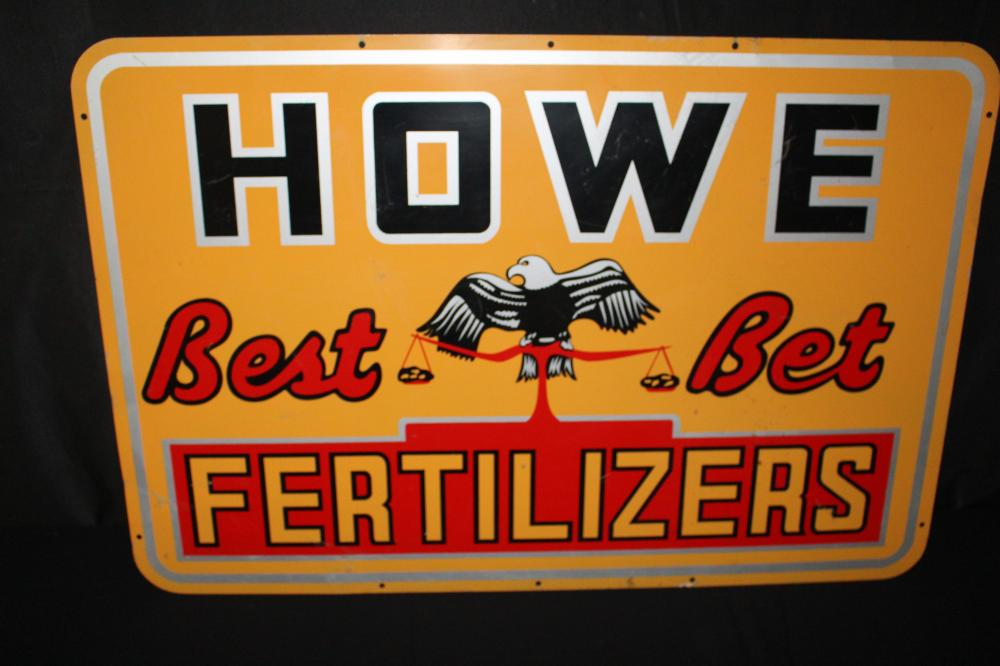 HOWE BEST BET FERTILIZER EAGLE & SCALE SIGN