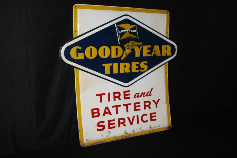 1957 GOOD YEAR TIRE & BATTERY SERVICE SIGN