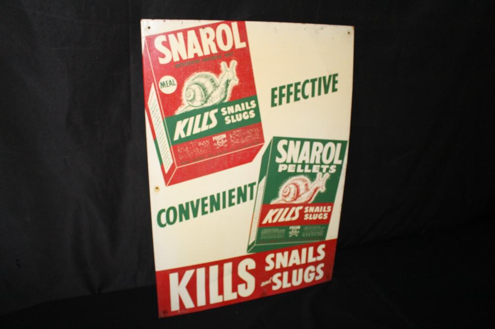 SNAROL SNAIL & SLUG POISON SIGN