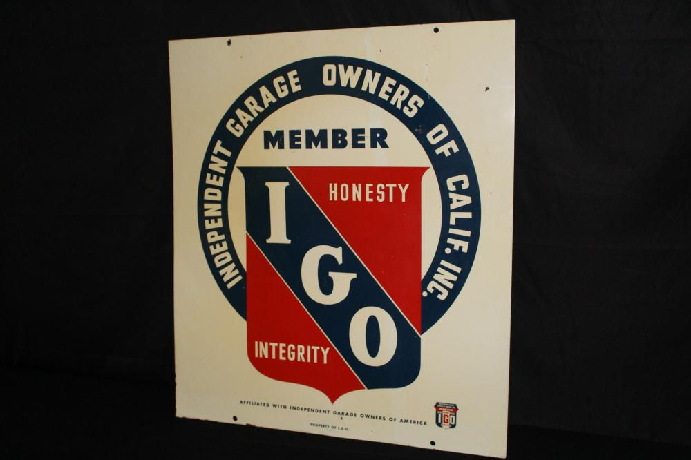 INDEPENDENT GARAGE OWNERS OF CALIFORNIA SIGN