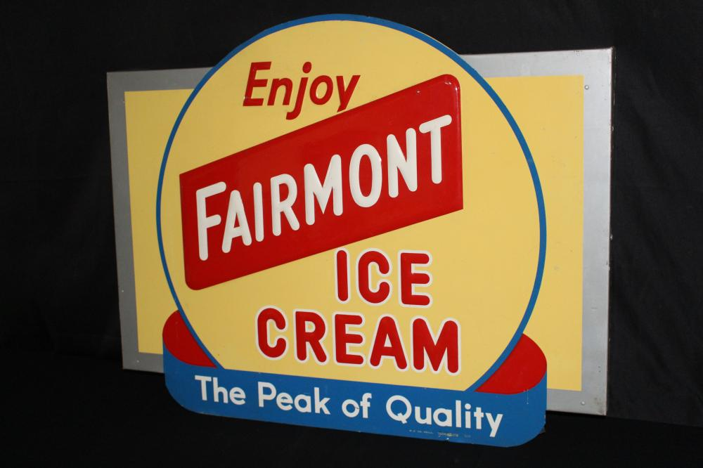 ENJOY FAIRMONT ICE CREAM SIGN
