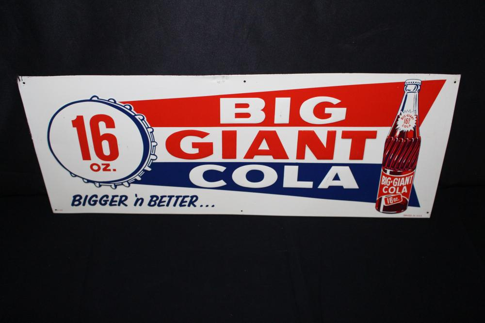 BIG GIANT COLA SODA POP TIN SIGN