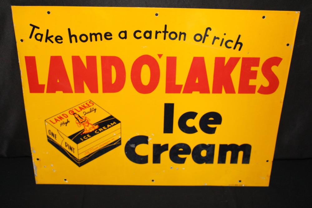 RARE LAND O LAKES ICE CREAM SIGN