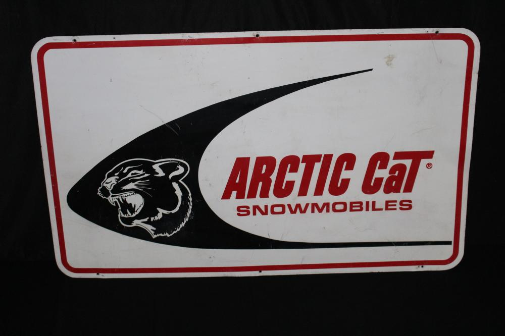 RARE ARCTIC CAT SNOWMOBILES DEALER SIGN 2 SIDED