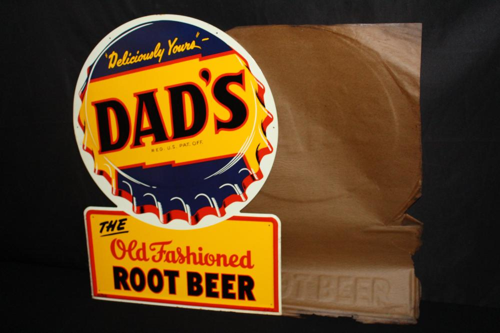 NOS DELICIOUSLY YOURS DADS ROOT BEER SIGN
