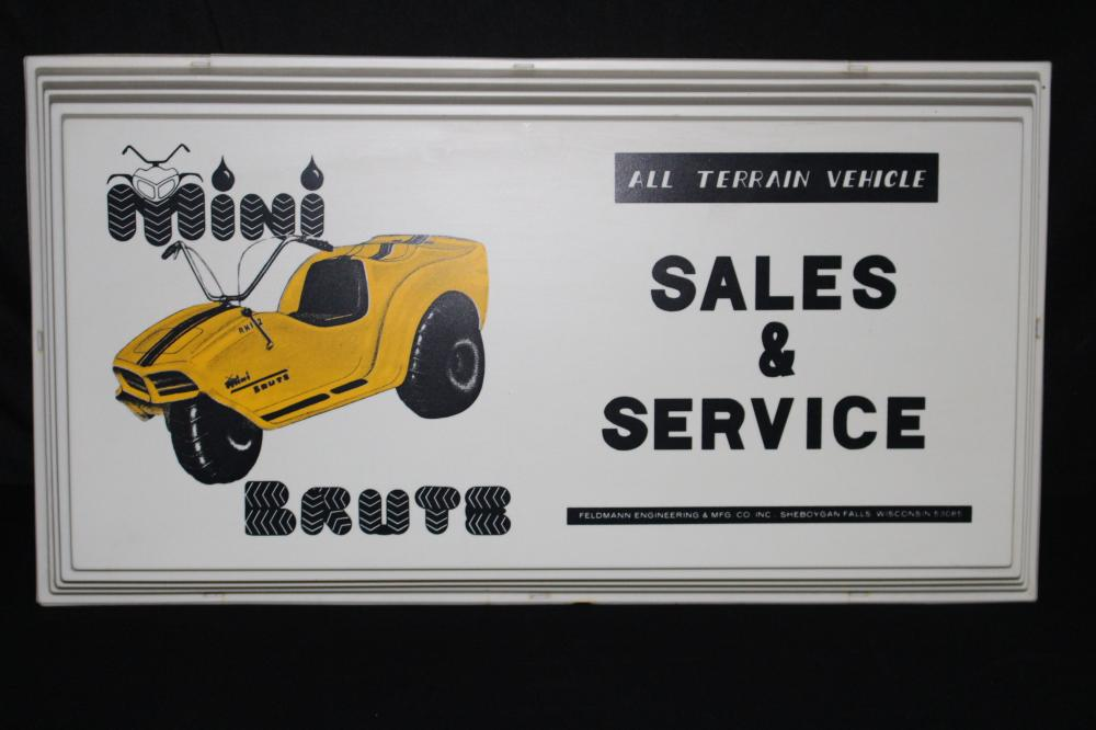 NOS FELDMAN MINI BRUTE OFF ROAD VEHICHLE SIGN