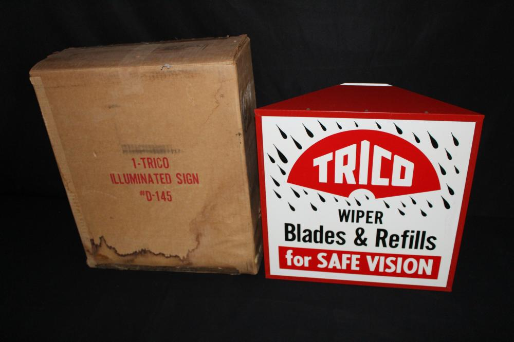 NOS TRICO WIPER BLADES LIGHTED SIGN
