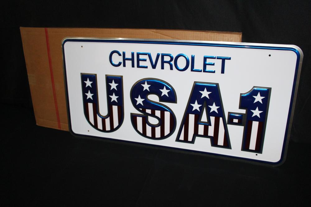 NOS USA-1 CHEVROLET DEALER SIGN