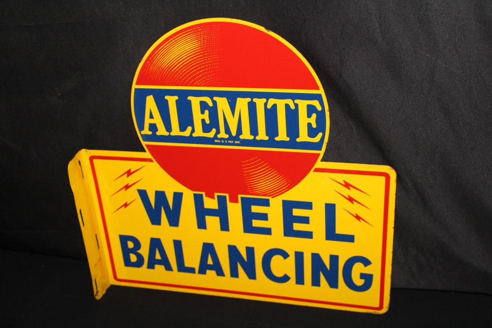 ALEMITE WHEEL BALANCING FLANGE SIGN