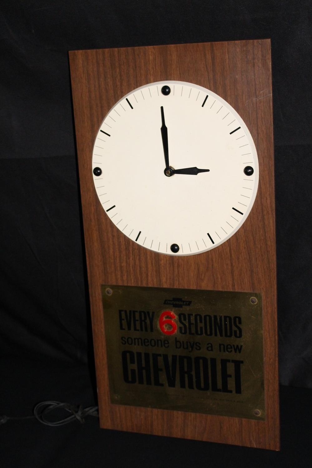 EVERY 6 SECONDS SOMEONE BUYS A CHEVROLET CLOCK
