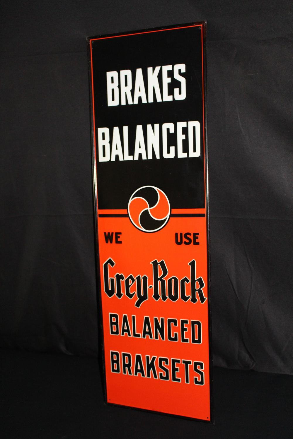 NOS GREY ROCK BRAKE PARTS TIN SIGN