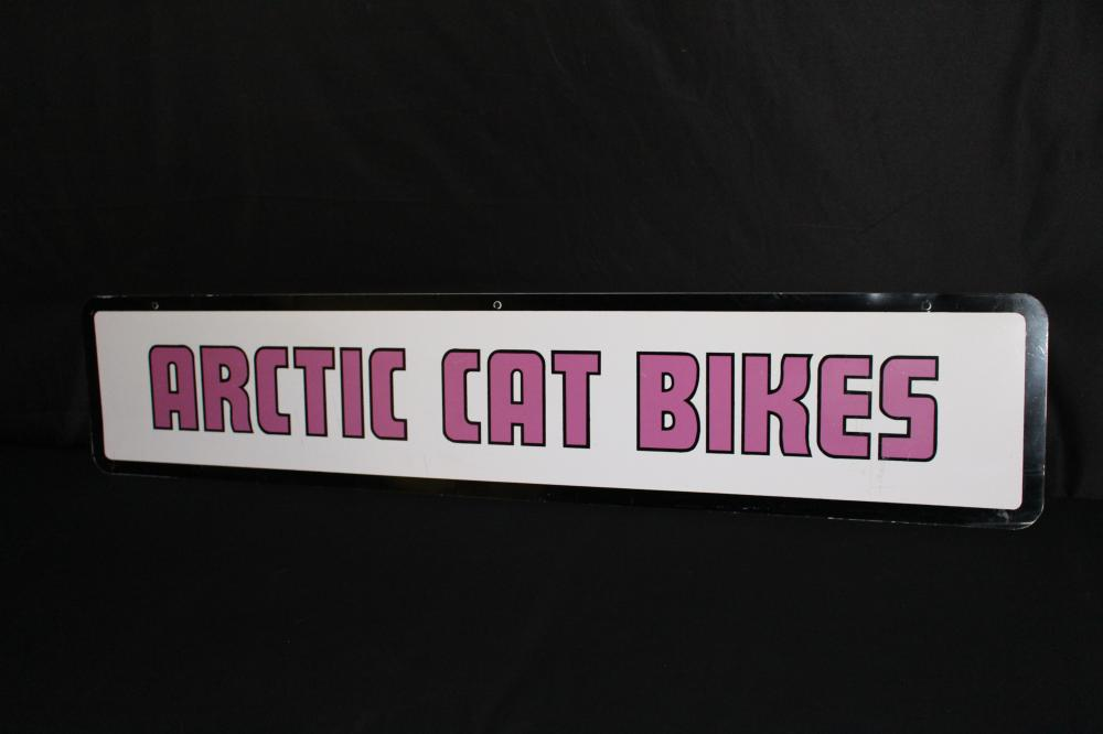RARE ARCTIC CAT BIKES MOTORCYCLE SNOWMOBILE SIGN