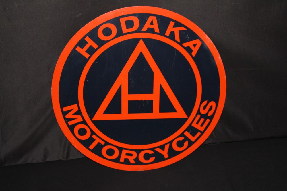 HODAKA MOTORCYCLES DEALER SIGN