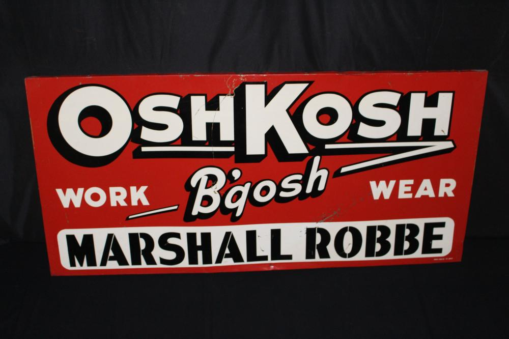OSHKOSH B'GOSH WORK WEAR TIN SIGN