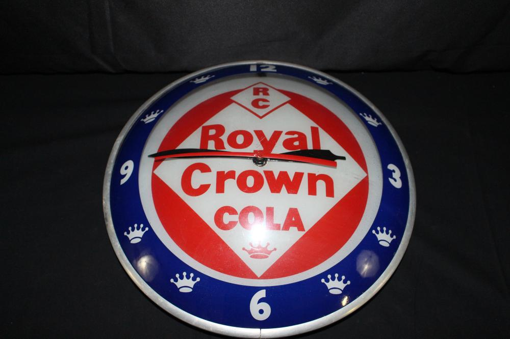RARE RC ROYAL CROWN COLA DOUBLE BUBBLE CLOCK