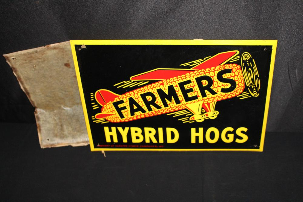 NOS FARMERS HYBRID SEED CORN AIRPLANE SIGN
