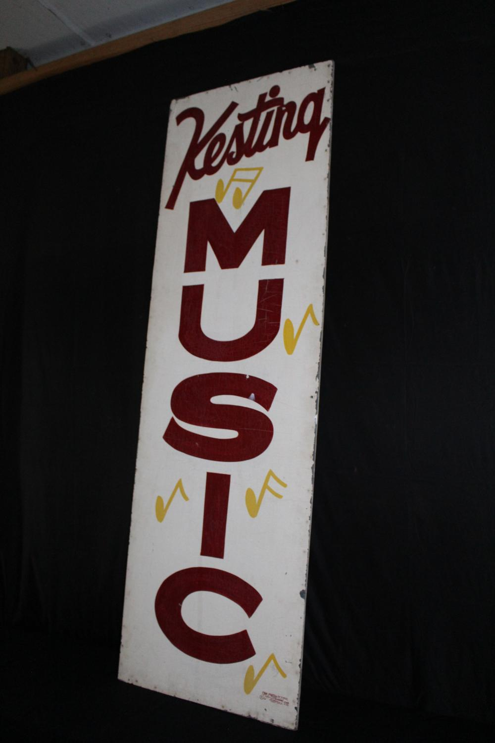 KESTING MUSIC TIN BILLBOARD SIGN