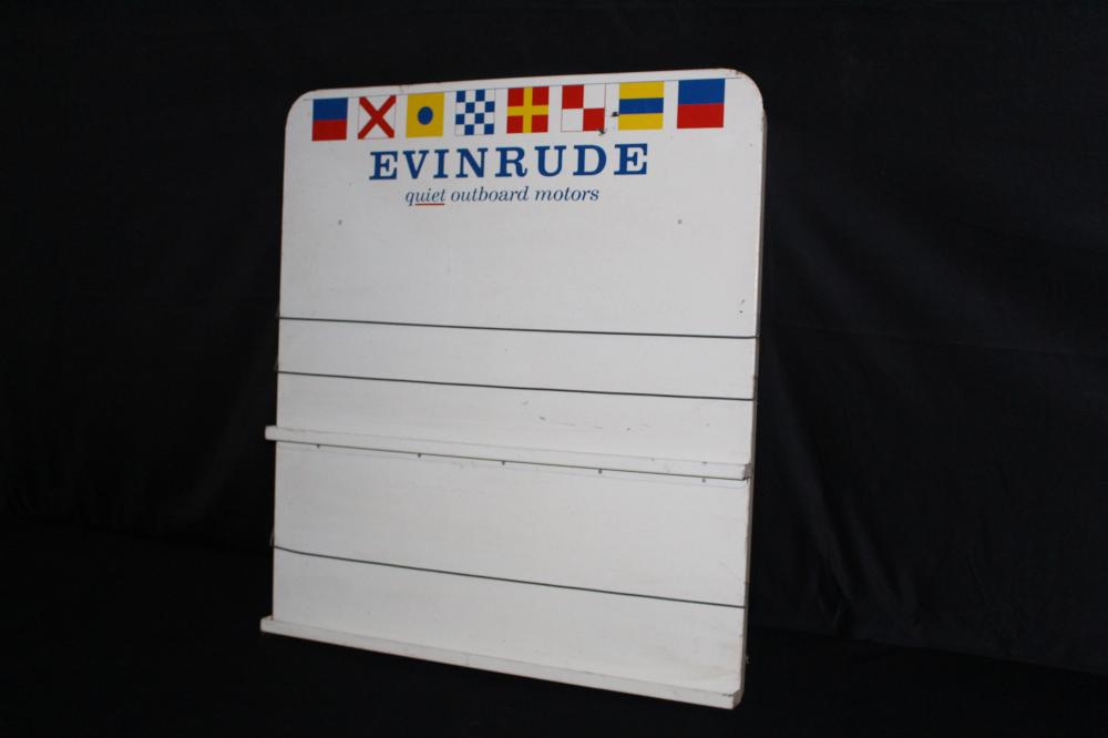 EVINRUDE OUTBOARD MOTORS LITERATURE RACK SIGN