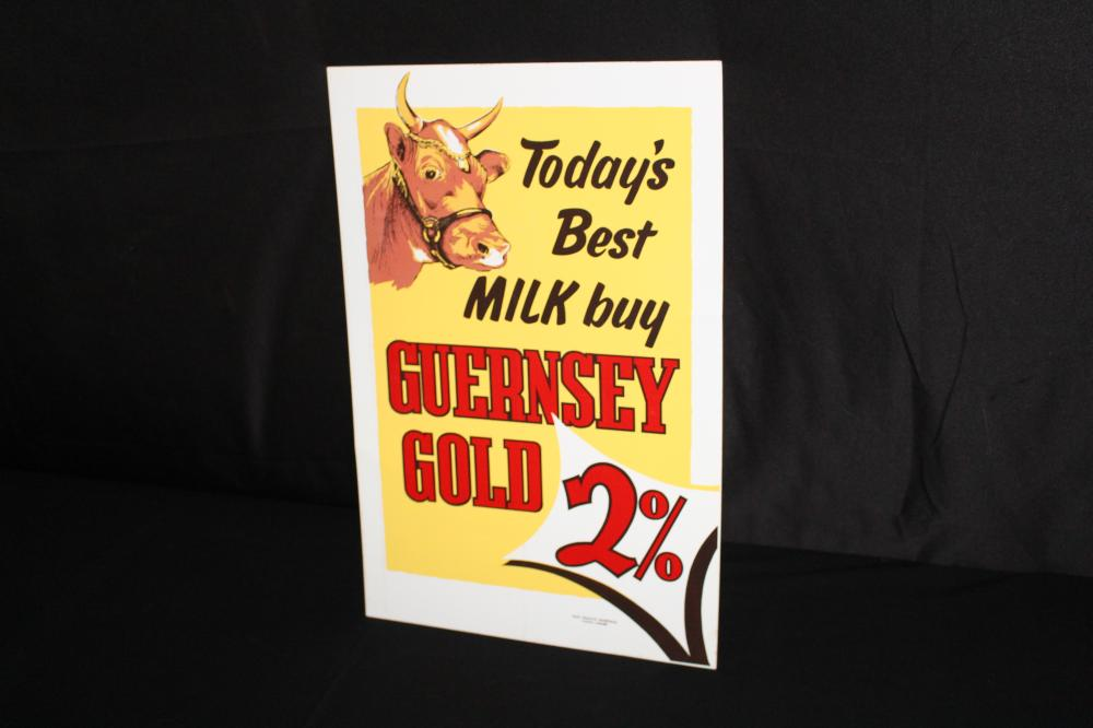 GUERNSEY DAIRY COW MILK DAIRY SIGN