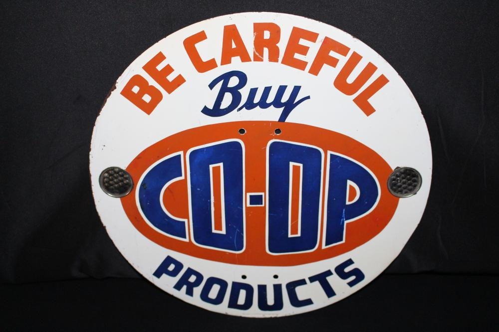BE CAREFUL BUY COOP PRODUCTS SIGN SUPERIOR WI