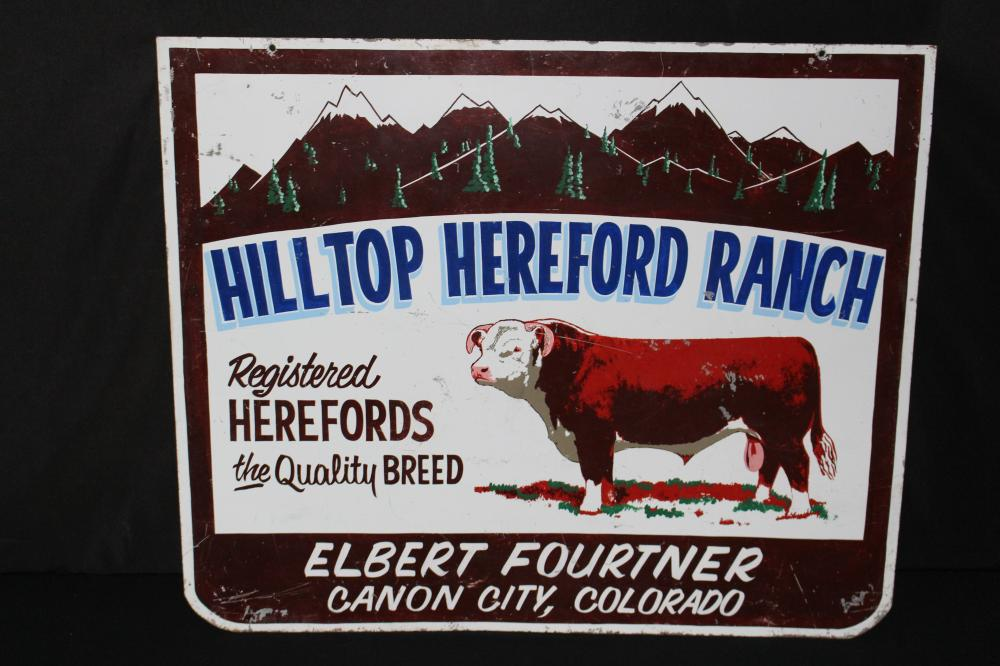 HEREFORD RANCH CANON CITY CO LIVESTOCK CATTLE SIGN
