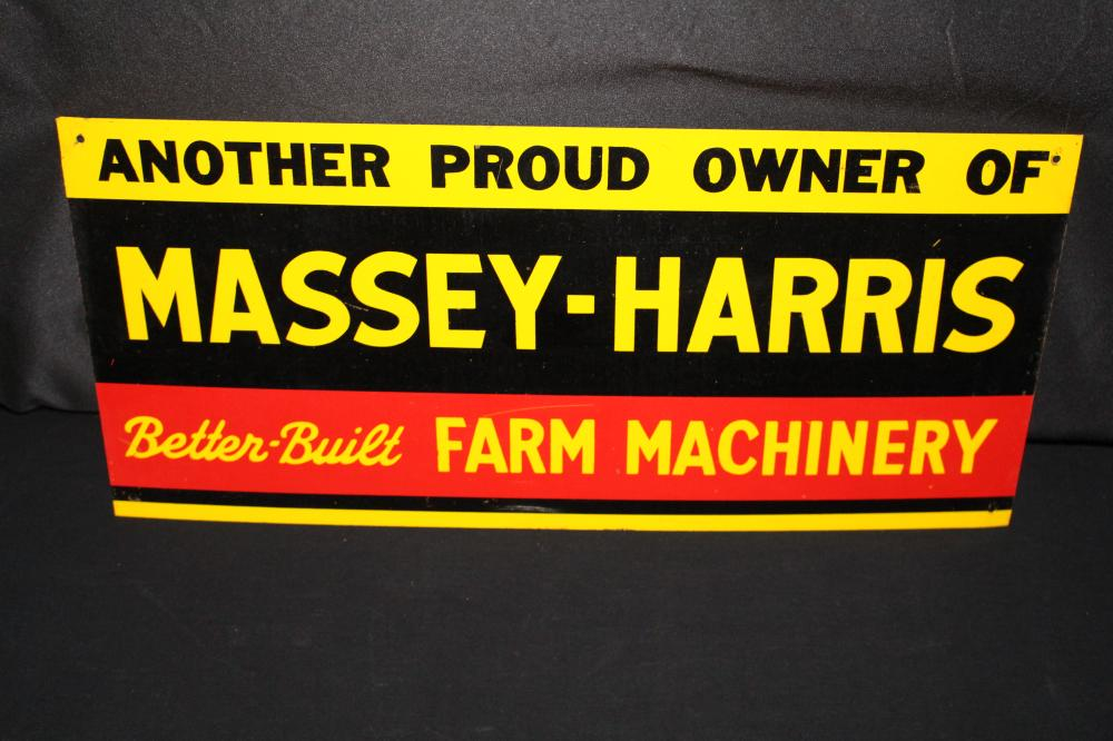 MASSEY HARRIS FARM MACHINERY TIN SIGN