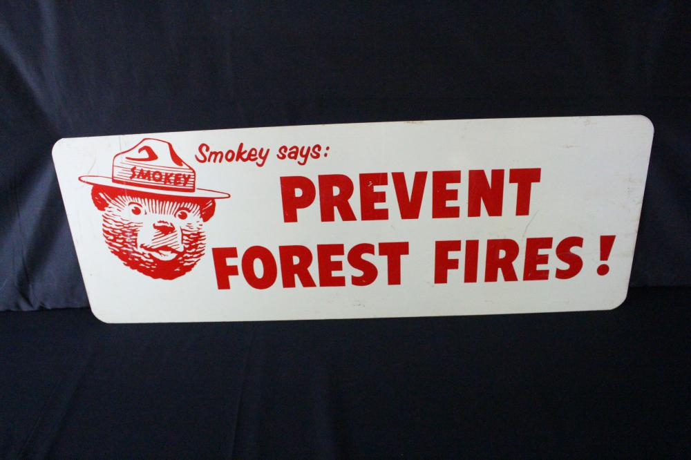 NOS SMOKEY BEAR PREVENT FOREST FIRES SIGN