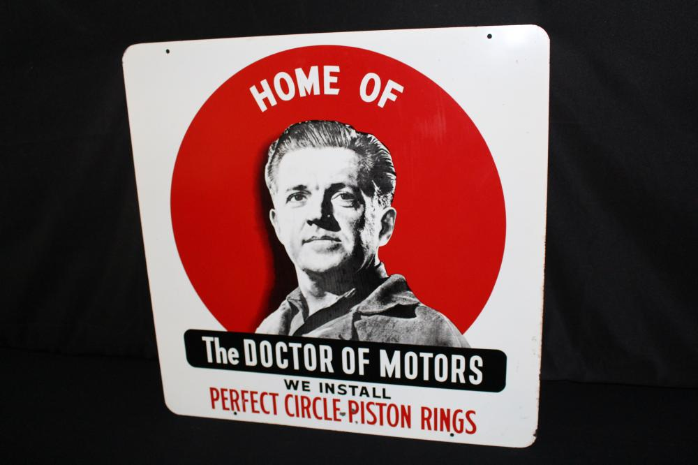 PERFECT CIRCLE PISTON RINGS DOCTOR OF MOTORS SIGN