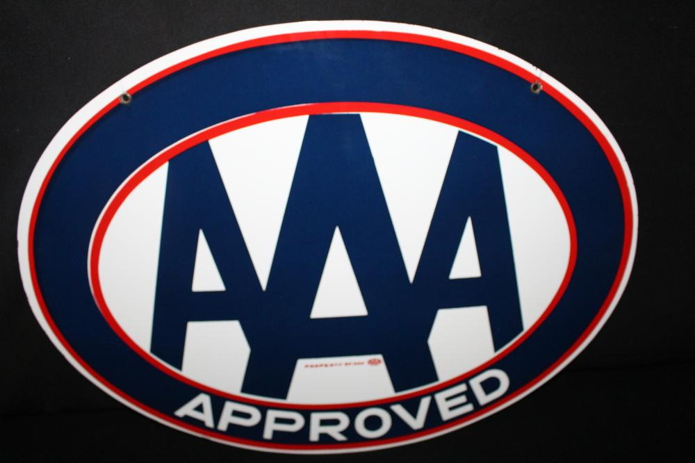 PORCELAIN TRIPLE A AAA APPROVED SIGN