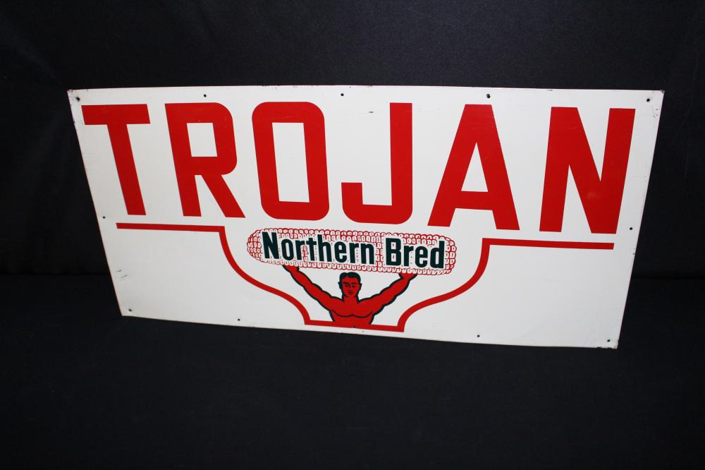 TROJAN NORTHERN BRED HYBRID SEED CORN SIGN