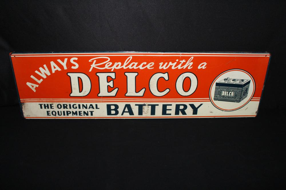 DELCO BATTERY BATTERIES RACK SIGN