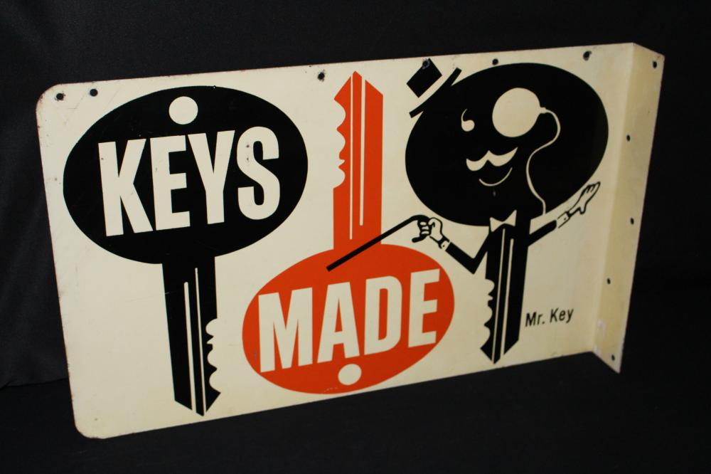 MR KEYS MADE HERE HARDWARE STORE FLANGE SIGN