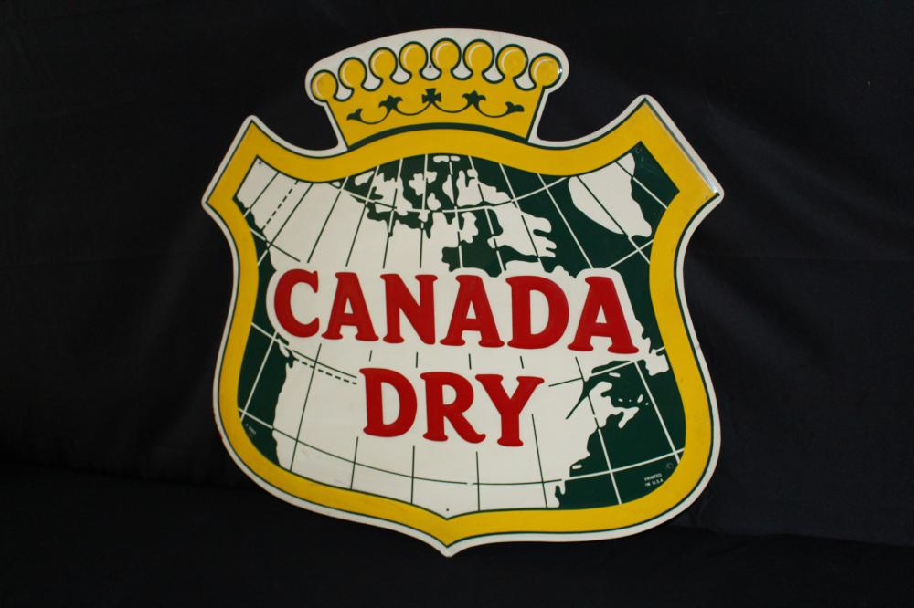 CANADA DRY SHIELD LOGO SODA POP TIN SIGN
