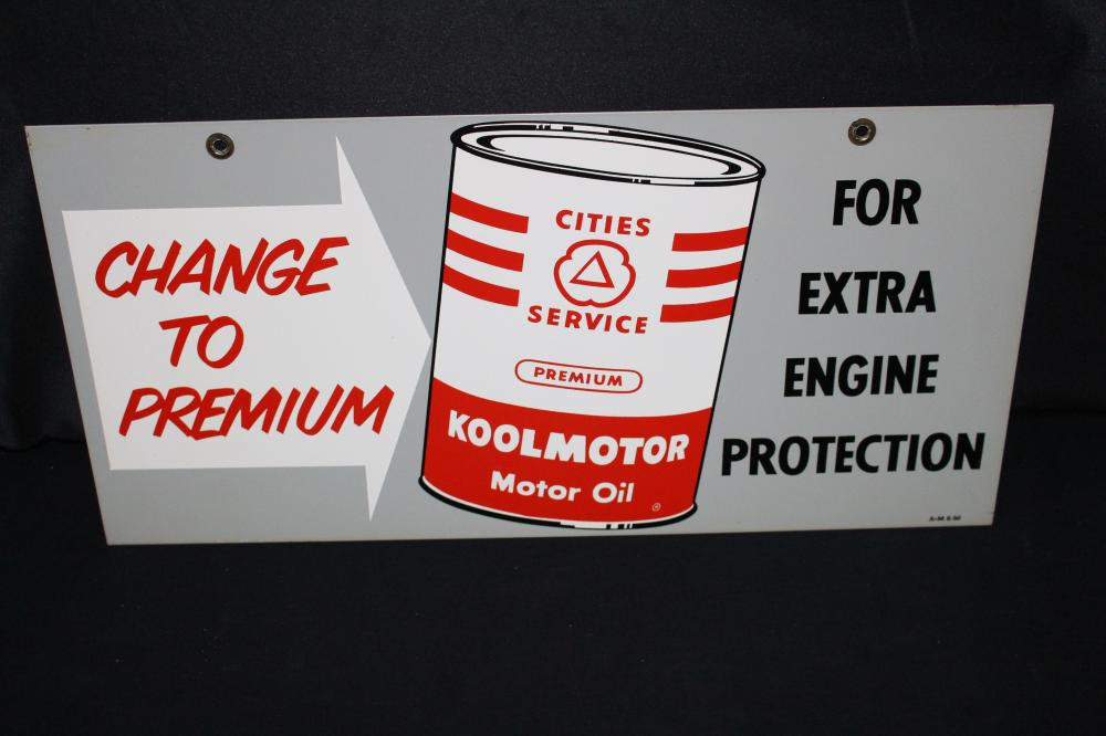CITIES SERVICE KOOLMOTOR MOTOR OIL SIGN