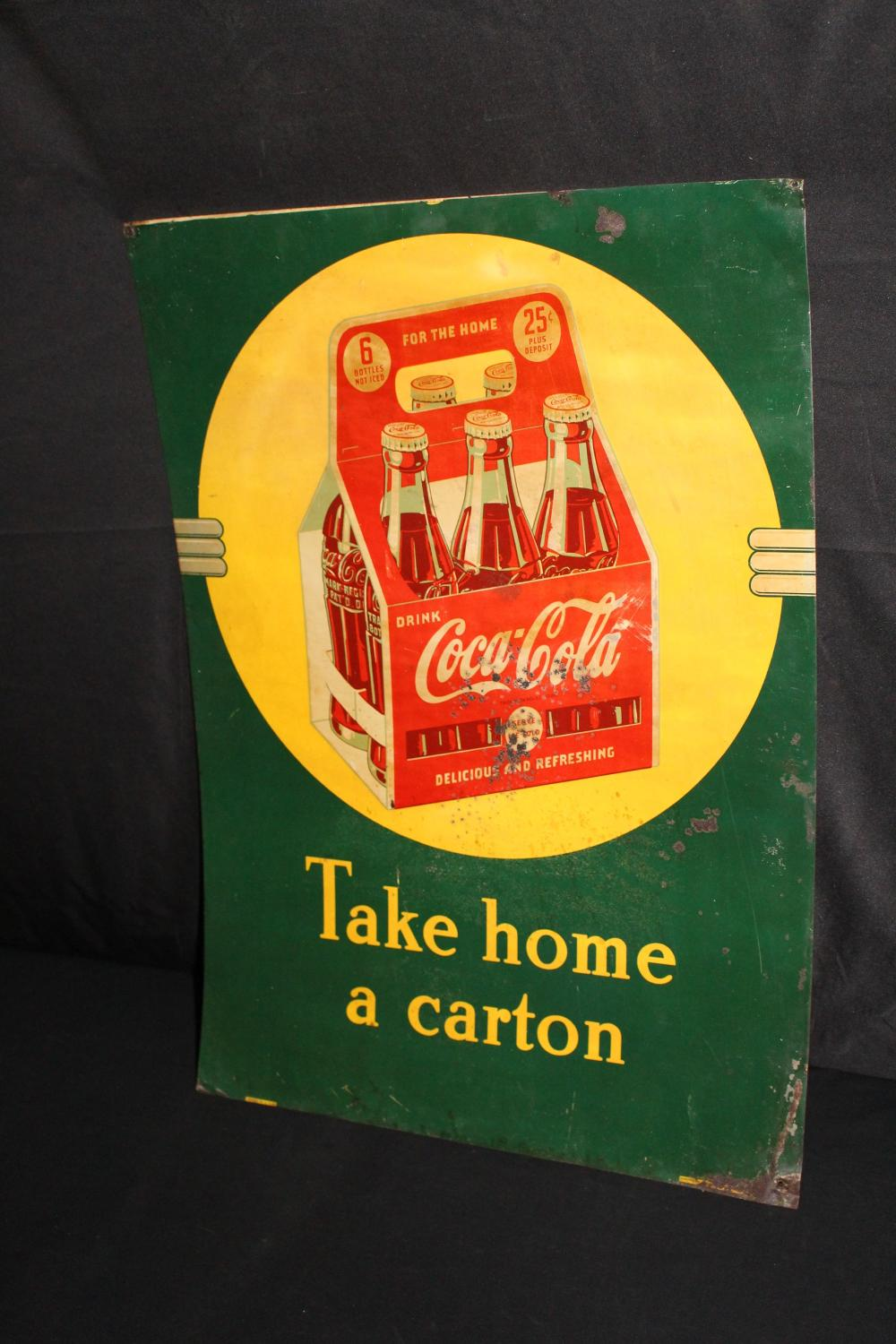TAKE HOME A CARTON COCA COLA 6 PACK SIGN