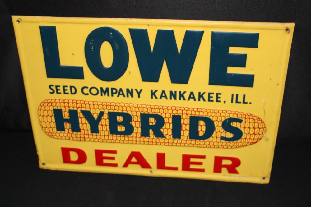 LOWE HYBRID SEED CORN SIGN KANKAKEE ILLINOIS