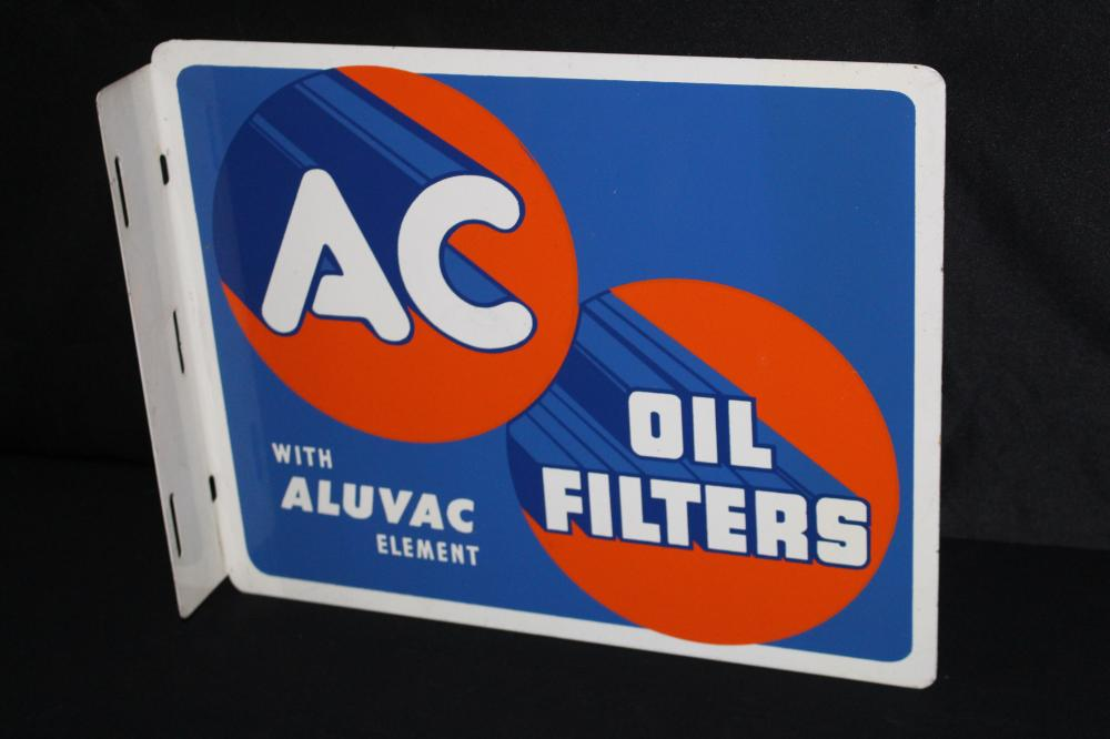 AC OIL FILTERS FLANGE SIGN