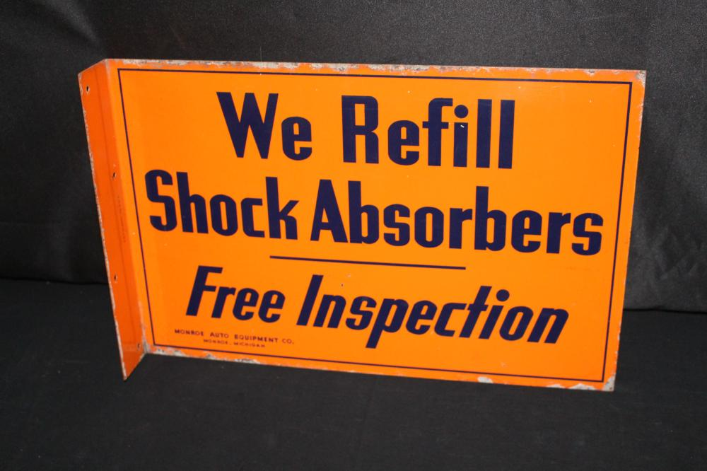 MONROE AUTO EQUIPMENT SHOCK ABSORBERS FLANGE SIGN