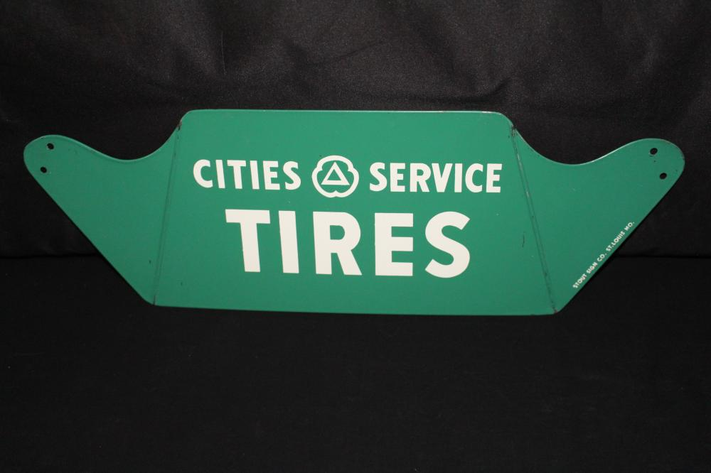 NOS CITIES SERVICE TIRE RACK SIGN