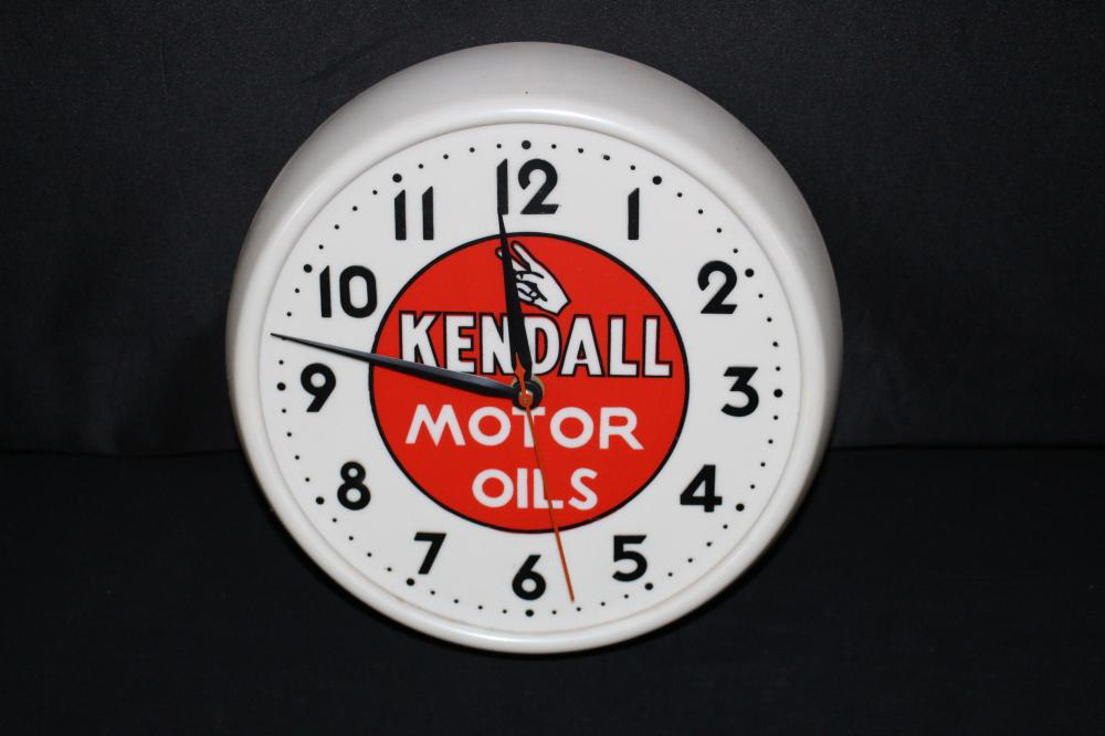 KENDALL MOTOR OIL CLOCK SIGN