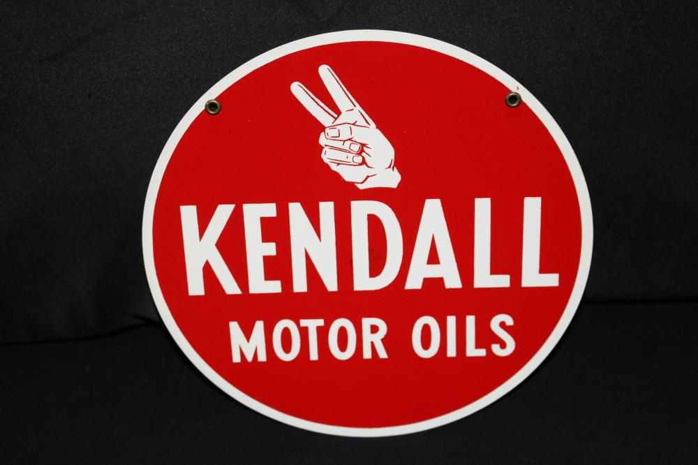 NOS KENDALL MOTOR OILS RACK SIGN 10""