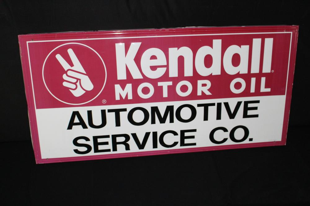AUTOMOTIVE SERVICE CO KENDALL MOTOR OIL SIGN
