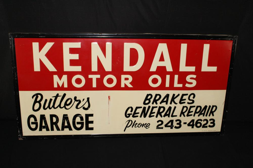 BUTLERS GARAGE KENDALL MOTOR OIL SIGN