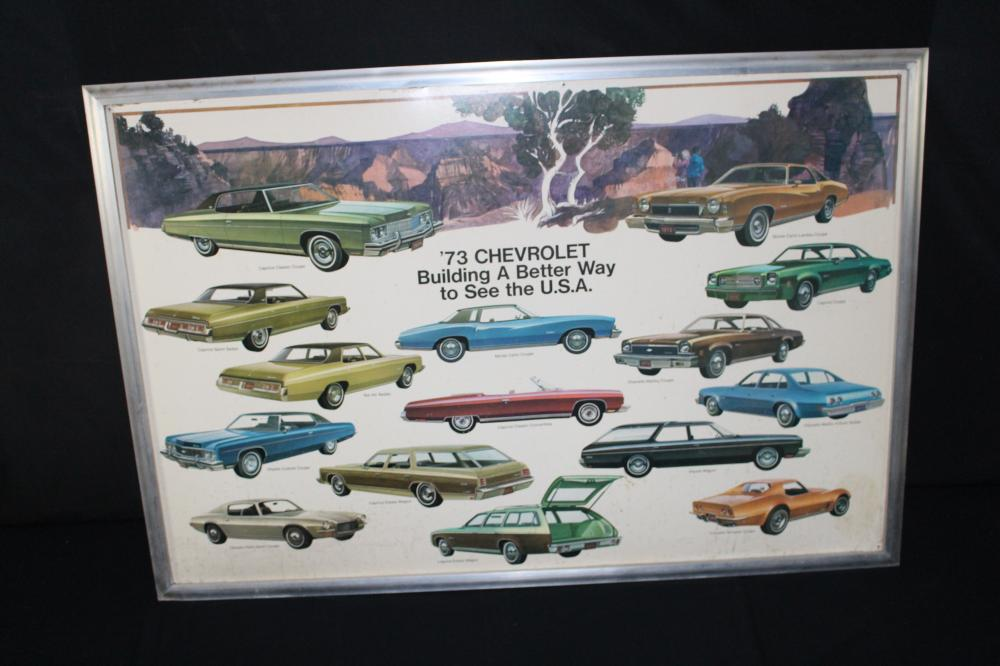 1973 CHEVROLET FULL SIZE CAR LINE DEALERSHIP SIGN