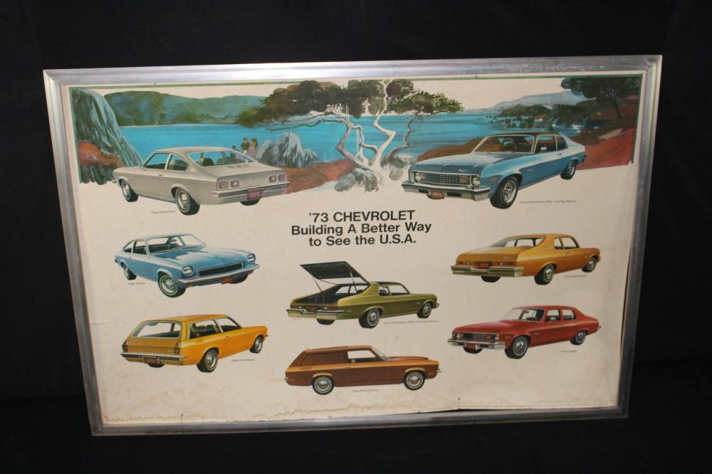 1973 CHEVROLET MID SIZE CAR LINE DEALERSHIP SIGN