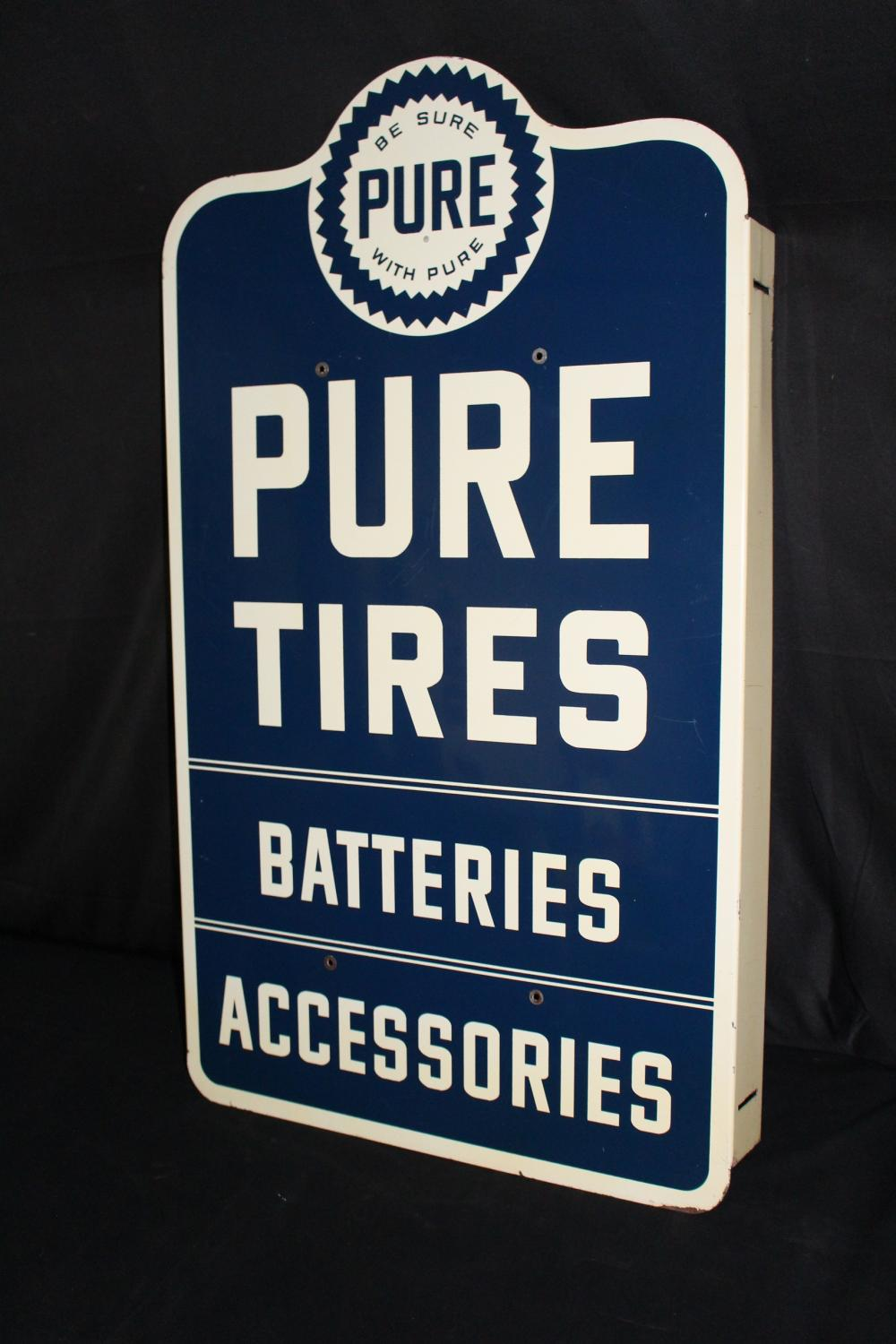 PURE GAS STATION TIRE RACK SIGN