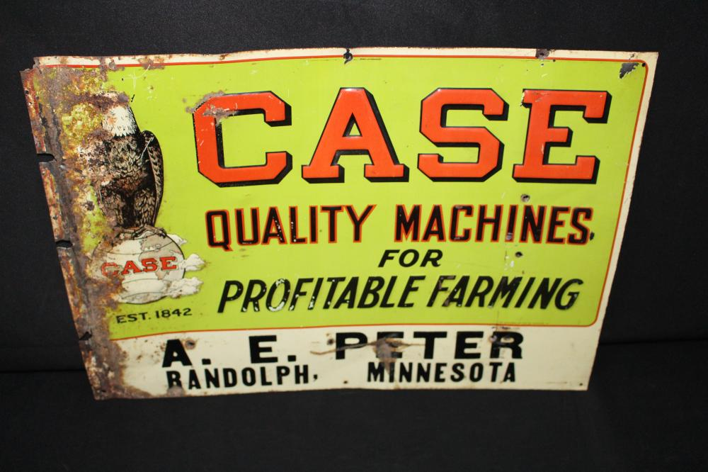 RARE JI CASE FARM MACHINERY RANDOLPH MN TIN SIGN